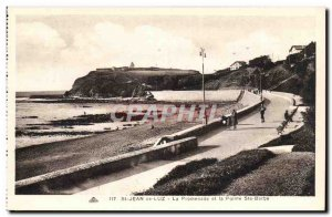Saint Jean de Luz Old Postcard The promenade and the tip Ste Barbe