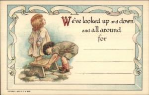 CM Burd Rally Day Sunday School Children 1922 Postcard #4 EXC COND