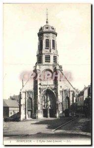 Postcard Old Honfleur Eglise Saint Leonard
