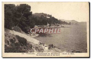 Old Postcard Toulon Promenade Du Mourillon Seaside