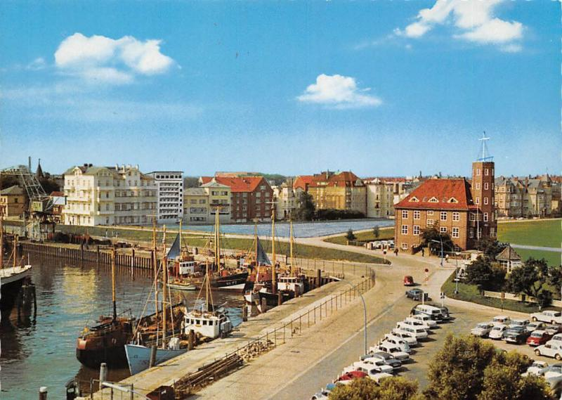 Nordseeheilbad Cuxhaven Am Alten Hafen Schiff Fishing Boats Harbour Auto Cars