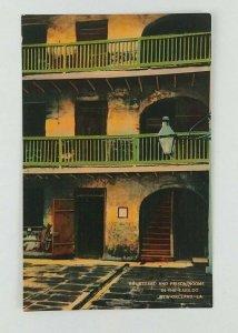 1930s-40s Cabildo Prison Courtyard New Orleans Postcard Unposted Linen