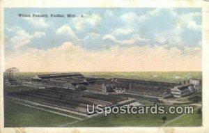Wilson Foundry in Pontiac, Michigan
