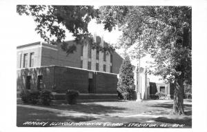 Streator Illinois~Army National Guard Armory~Real Photo Postcard~RPPC 1940s PC
