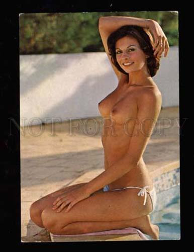 3001967 Semi-NUDE Young Woman on Beach Old photo color PC 1950s