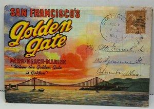 San Francisco Golden Gate Postcard Book California Vintage Postcard