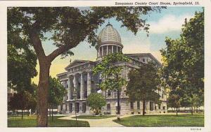 Exterior, Sangamon County Court House, Springfield, Illinois, 30-40s