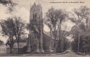Congrgational Church Brunswick Maine Albertype