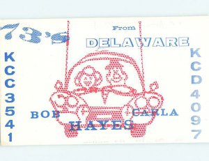 Pre-1980 RADIO CARD - CB HAM OR QSL Wilmington Delaware DE AH1192