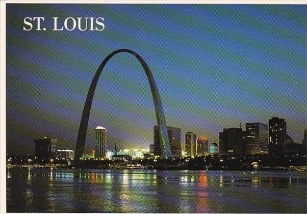 Missouri St Louis Skyline At Dusk