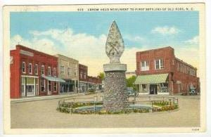 Arrow Head Monument to First Settlers of Old Fort, North Carolina, PU-1940