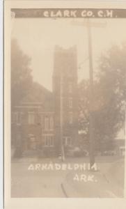 Arkansas Ar Real Photo RPPC Postcard ARKADELPHIA Clark County Court House