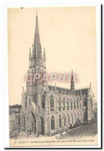 Nancy Old Postcard Basilica Saint epvre work Morey (1863-1875)