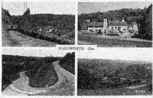 Nailsworth Glos Old Horsley Clock Tower Road Village Panorama Postcard
