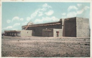 FRED HARVEY 12953; NEW MEXICO, 1900-10s; Church at Santo Domingo