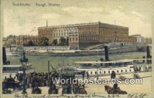 Kungl Slottet, Stockholm Sweden 1907 Writing on front