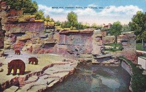 Bear Pit Forest Park St Louis Missouri 1941