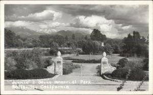 Redlands CA Davis Memorial Park Real Photo Postcard