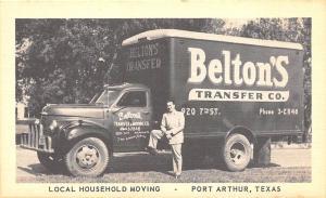 Port Arthur TX Belton's Transfer Co. Moving Truck Postcard