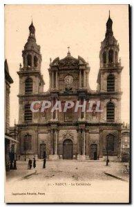 Old Postcard Nancy Cathedrale