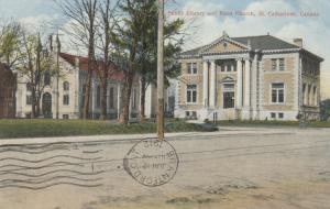 ST. CATHARINES , Ontario, 1912 ; Public Library & Knox Church