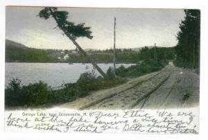 Pine Lake to Liverpool, New York 1906 used HAND COLORED PC, Caroga Lake