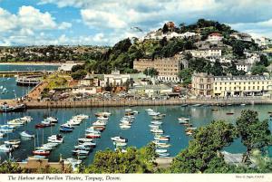 Devon, Torquay, The Harbour and Pavilion Theatre, Boats, Port