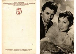CPA Gerard Philipe and Lilli Palmer FILM STAR (399825)