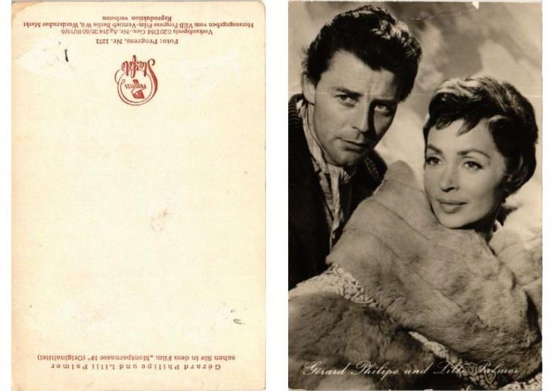CPA Gerard Philipe and Lilli Palmer FILM STAR (399825)