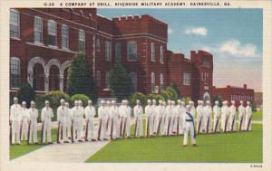 Company At Drill Riverside Military Academy Gainesville Florida