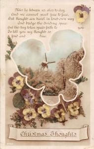Christmas Thoughts, Pansy, Flowers, Countryside Windmill