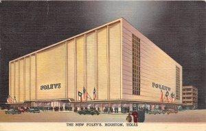 G22/ Houston Texas Postcard 1950 Linen New Foley's Department Store