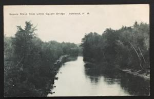 Squam River from Little Squam Bridge Ashland NH 1939 R.M. Whitcomb