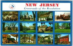 1960s NEW JERSEY Multi-View Postcard 12 Scenes Crossroads of the Revolution