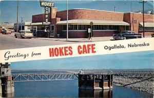 Vintage Chrome Roadside Postcard; Hokes Cafe, Ogallala NE Keith County Posted