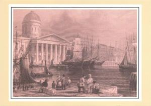 Vintage Reproduction Postcard, Liverpool Post Office, Canning Dock 1839-99 56S