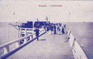 OSTENDE,L'Estacade, West Flanders, Belgium, PU-1906