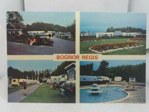 New 1970s Vintage Multiview Postcard Riverside Caravan Park Bognor Regis Sussex