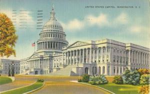 Capitol, Washington DC, 1944 used linen Postcard