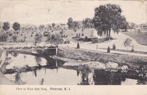 PATERSON, New Jersey, 1900-1910's; View Of West Side Park, Bridge