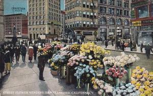 California San Francisco Street Flower Vendors 1930