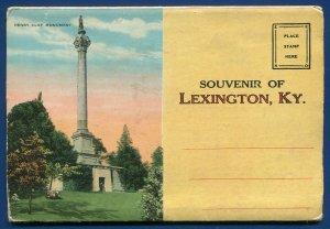 Lexington Kentucky ky Blue Grass Region thoroughbreds horses postcard folder #2