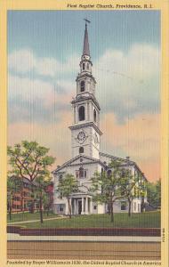 PROVIDENCE, Rhode Island, 1930-1940s; First Baptist Church