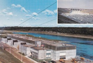Near NIPAWIN, Saskatchewan, Canada, 1950-70s; 2-Views, Squaw Rapids Hydro-Ele...