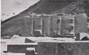 Peru Ollantaytambo The Monolith Real Photo