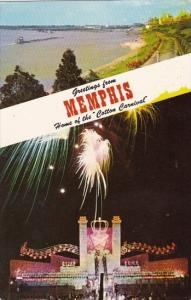 Tennessee Memphis Greetings From Memphis Home Of The Cotton Carnival