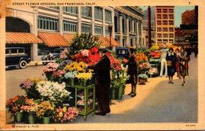 California San Francisco Street Flower Vendors 1940