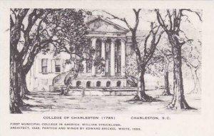 South Carolina Charleston College Of Charleston Artvue
