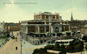 sweden, STOCKHOLM, Kongl. Operan med Operaterrassen, Theatre (1910s) Postcard