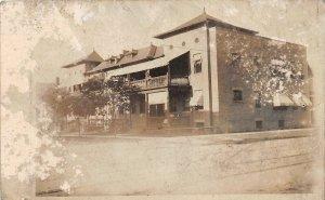F71/ Cleveland Ohio RPPC Postcard 1910 Apartment Building